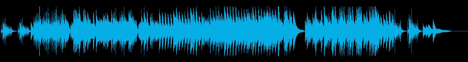 雨にうたれながら物思いにふけるピアノ曲の再生済みの波形