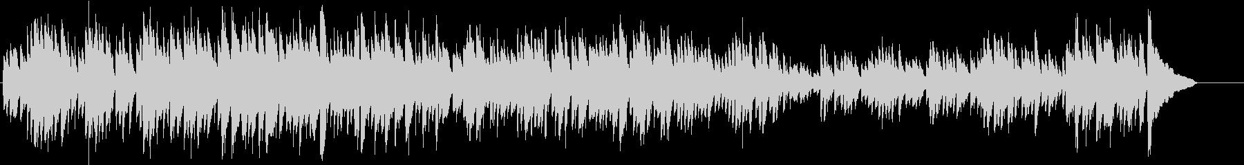 チェンバロの古風な曲バッハインベンションの未再生の波形