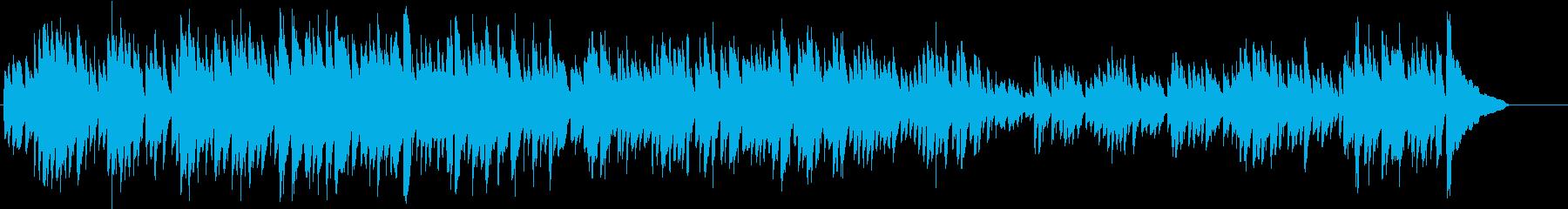チェンバロの古風な曲バッハインベンションの再生済みの波形