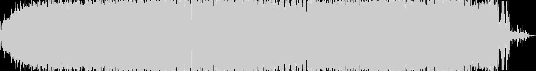 いきなり潜るフューチャーハウス風楽曲の未再生の波形