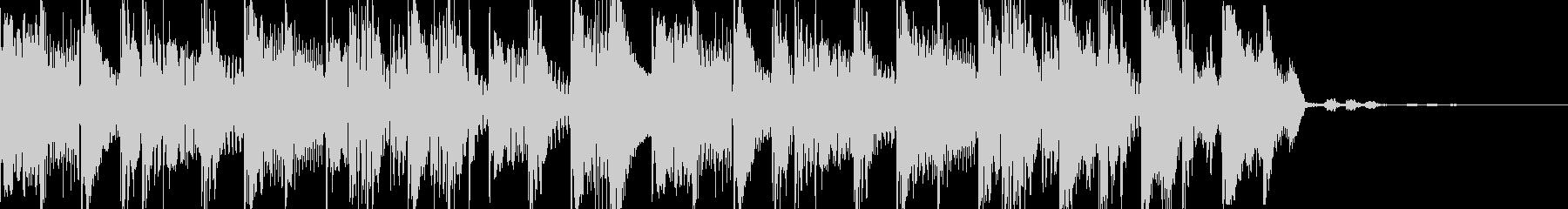 ベースハウスなシンキングタイム音の未再生の波形