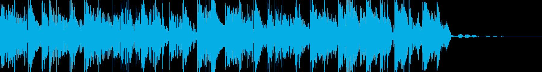 ベースハウスなシンキングタイム音の再生済みの波形