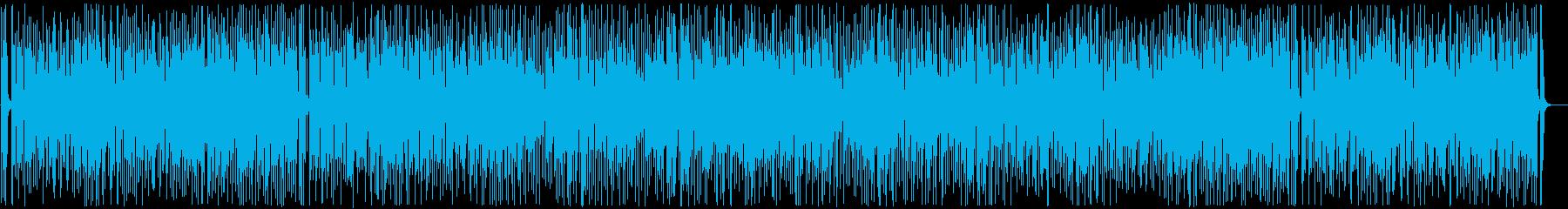 ウキウキするお洒落カワイイ曲の再生済みの波形