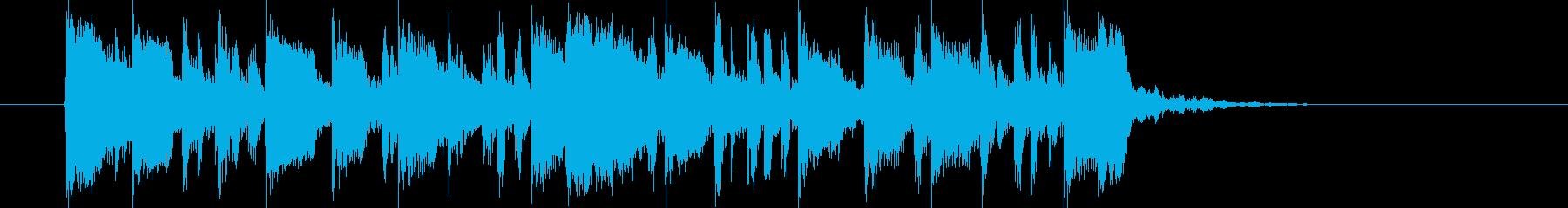 緩やかで煌き感あるシンセジングルの再生済みの波形