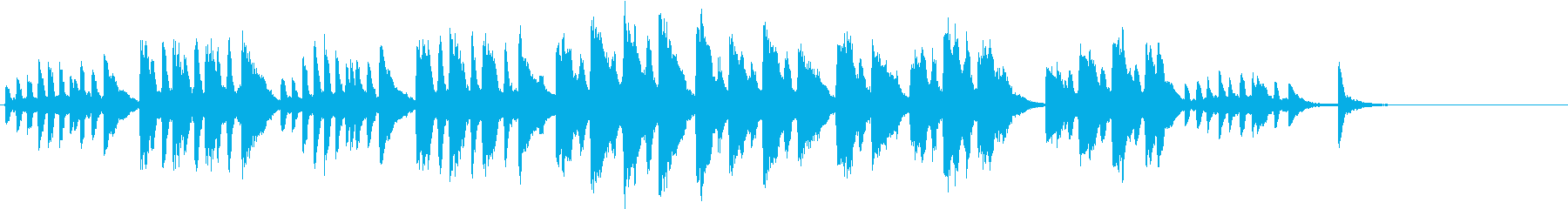 不思議な雰囲気のピアノ曲 束の間の幻影 の再生済みの波形