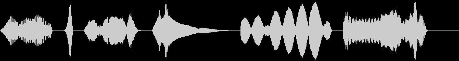 電磁気学1 X6の未再生の波形