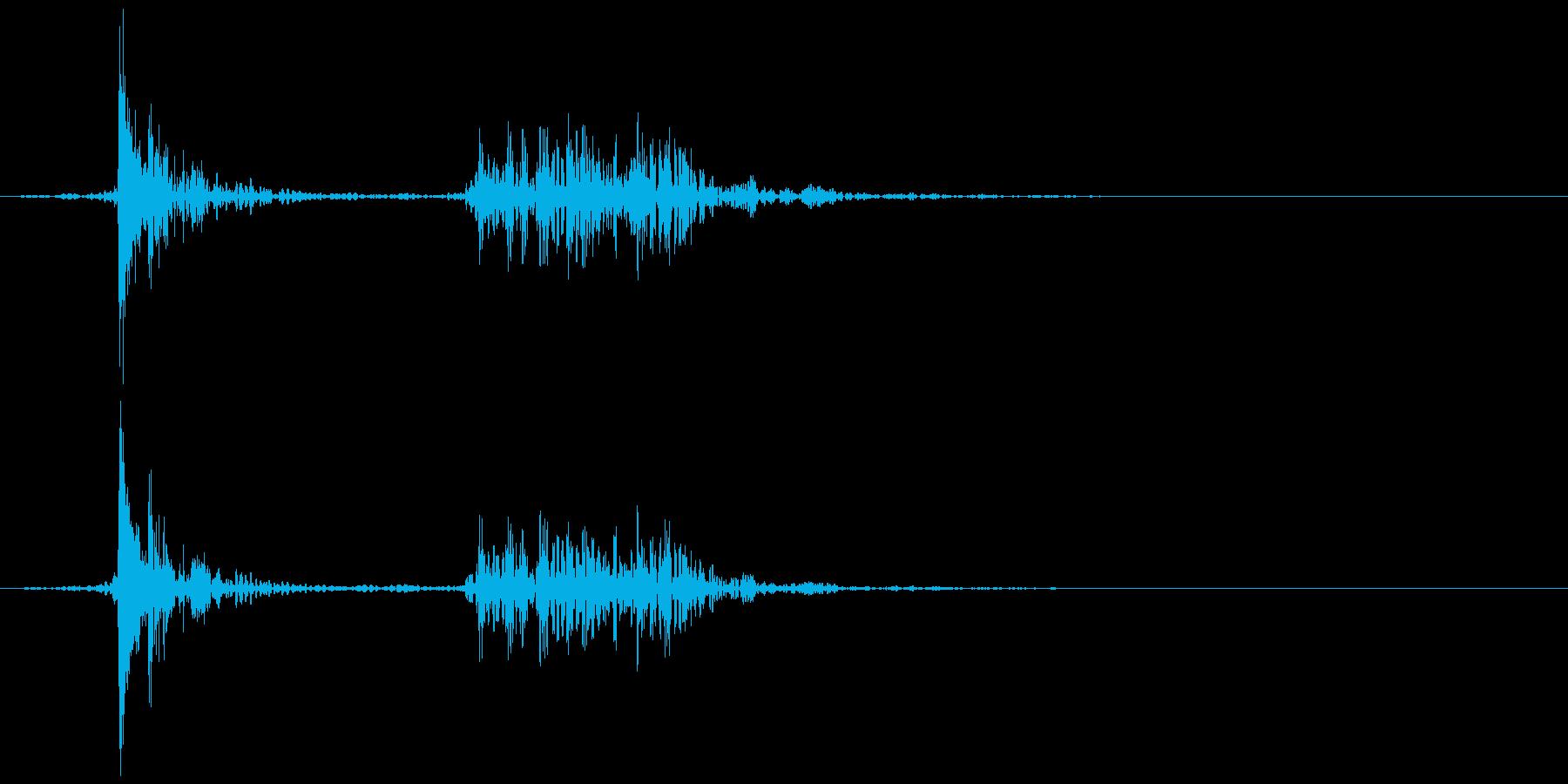 テレビ/ブラウン管 消灯音 カッ、カコンの再生済みの波形