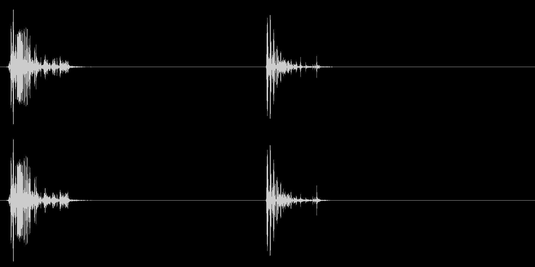 [生録音]ゴクゴク飲み込む音04(2回)の未再生の波形