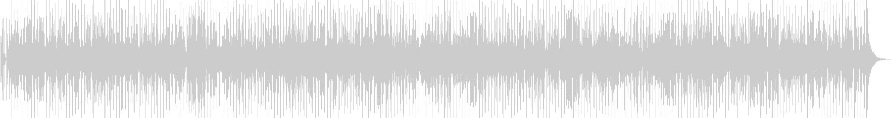 お洒落なファンクBGMの未再生の波形