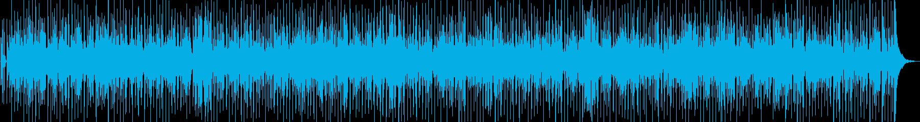 お洒落なファンクBGMの再生済みの波形