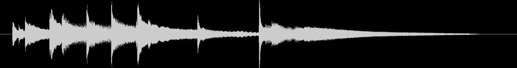 ジングル 場面転換ピアノソロの未再生の波形