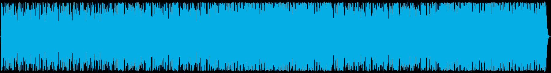急展開、焦燥感を煽る曲の再生済みの波形