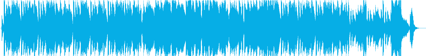 ハーモニカとハミングの爽やかなBGMの再生済みの波形