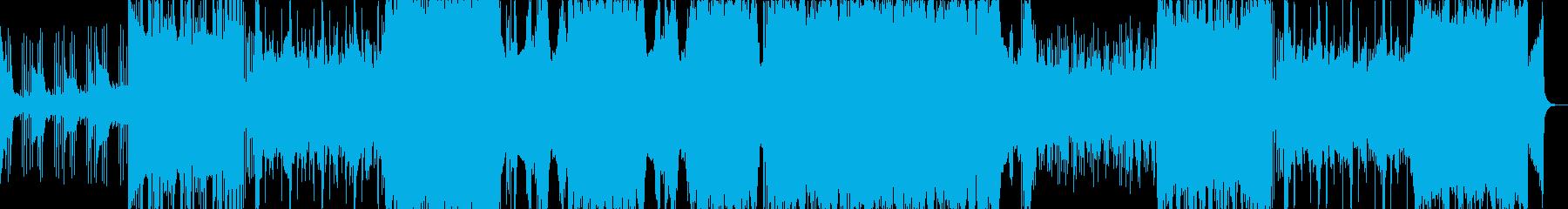 幻想的なフューチャーベース(声ネタ無し)の再生済みの波形