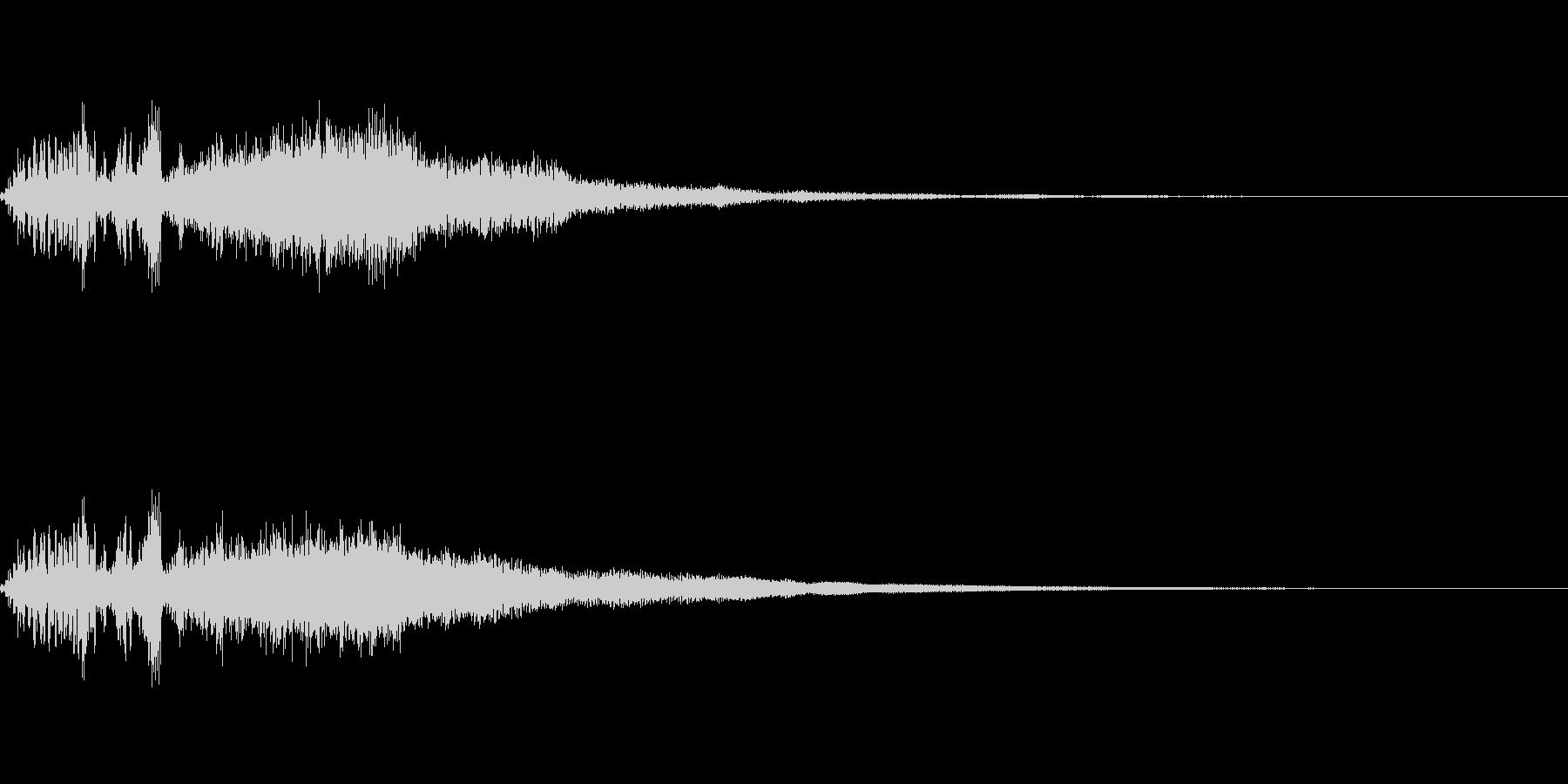 DJスクラッチとシンセの効果音「フワー」の未再生の波形