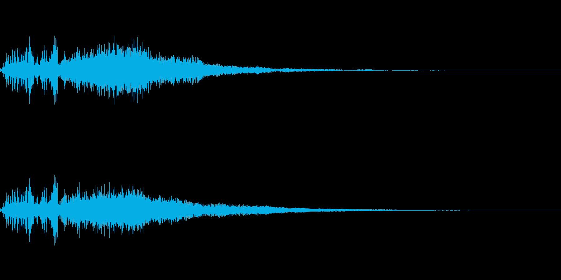 DJスクラッチとシンセの効果音「フワー」の再生済みの波形