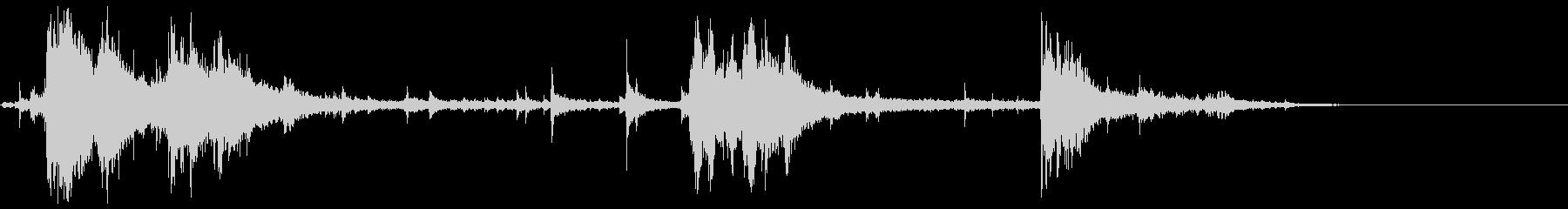 水の音(水仕事、水浴び、井戸)の未再生の波形