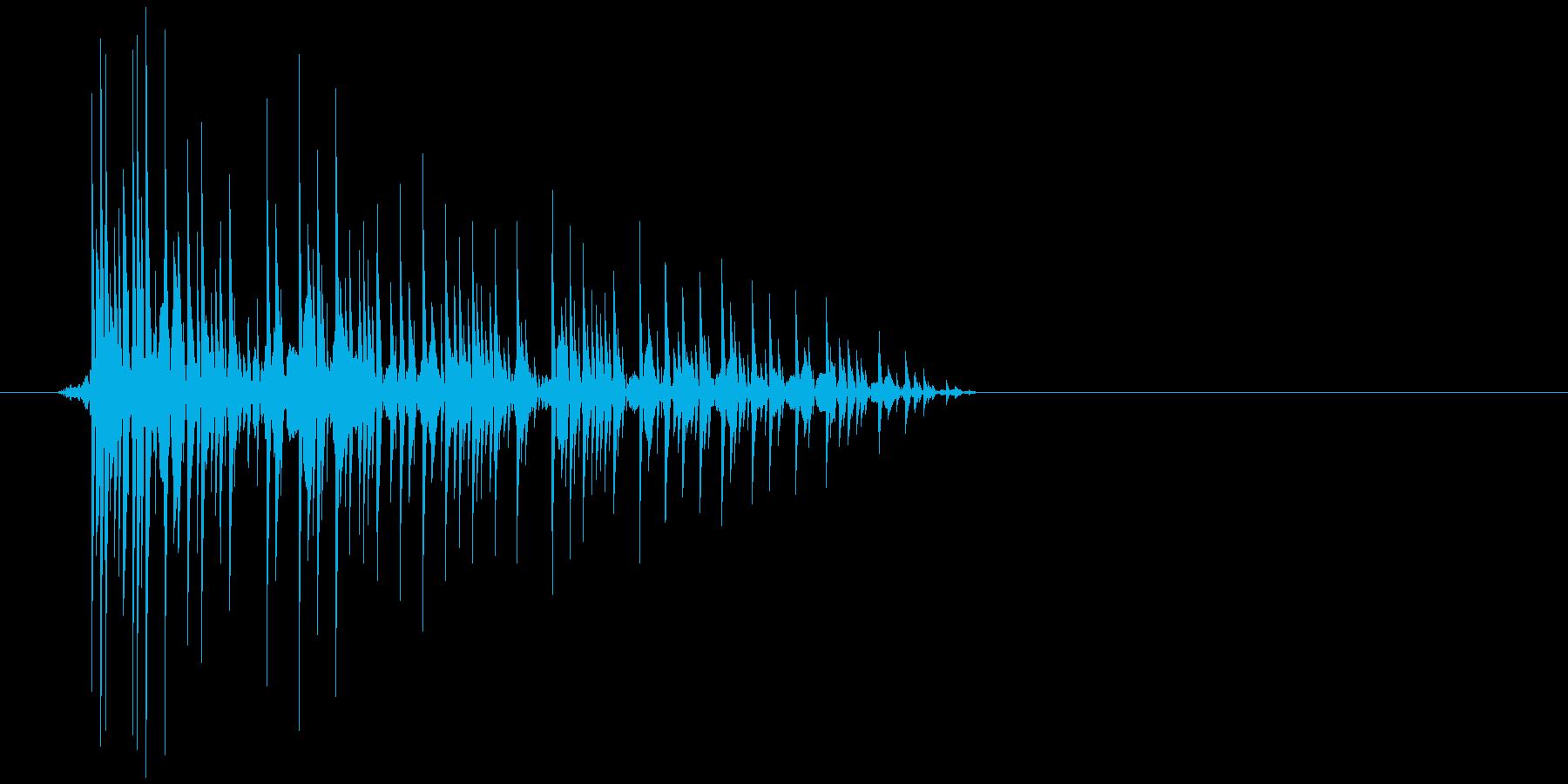 ゲーム(ファミコン風)爆発音_003の再生済みの波形