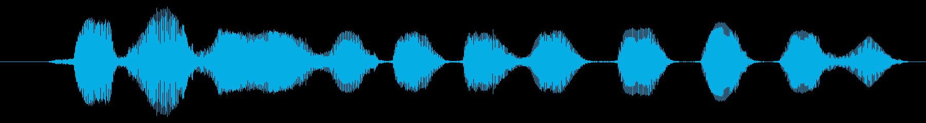 鳴き声 ゴブリンの笑い05の再生済みの波形