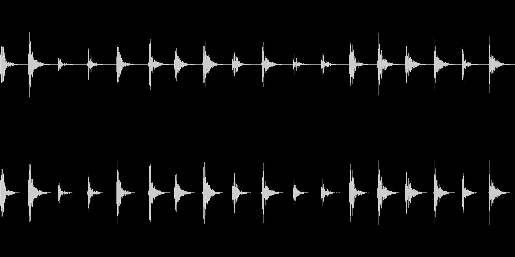 【足音01-1L】の未再生の波形