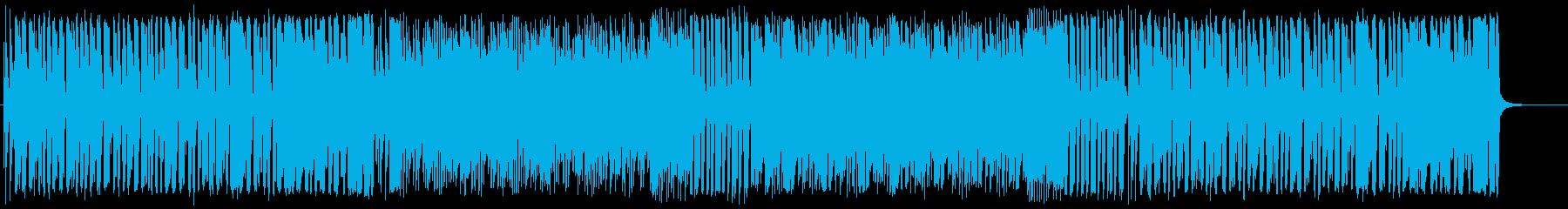 活動的で陽気な明るいBGMの再生済みの波形