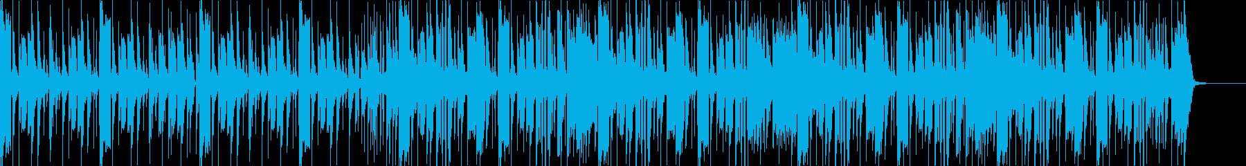 オールドスクールなヒップホップビートの再生済みの波形