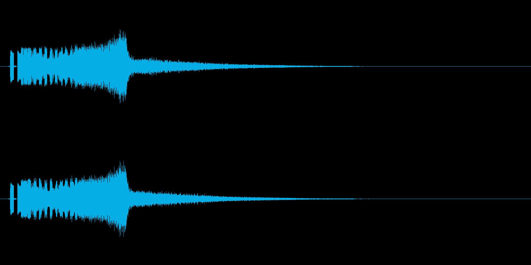 ラジオジングルキットFMジングルの再生済みの波形