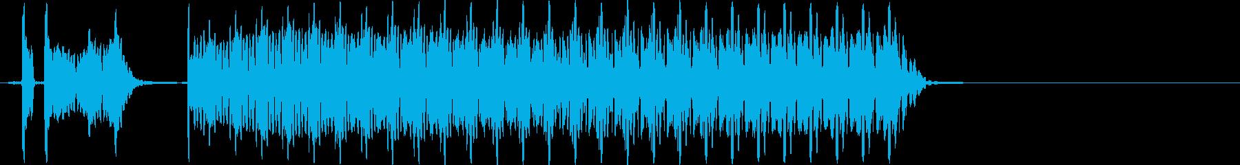 ブブー(不正解音、ハズレ音)の再生済みの波形