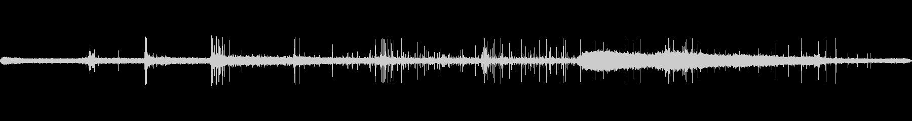 シズルフライパンスパッタの未再生の波形