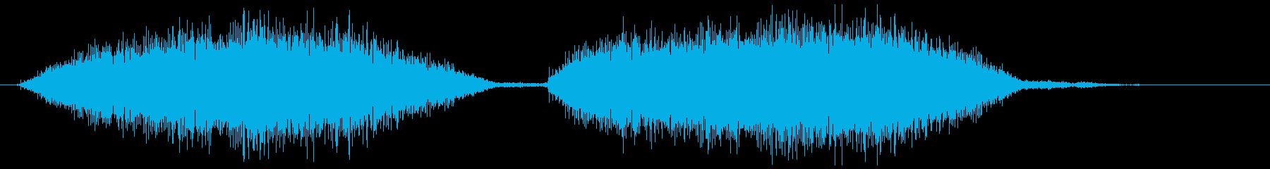 ベルトを通す(シューシュー)の再生済みの波形