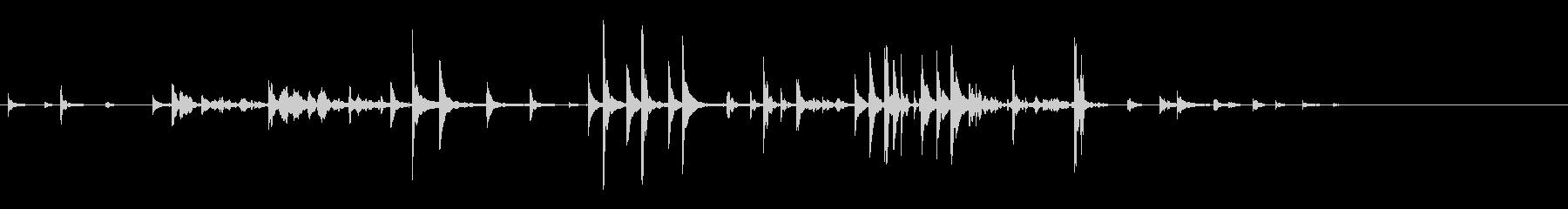 小鐘:ガラガラリングの未再生の波形