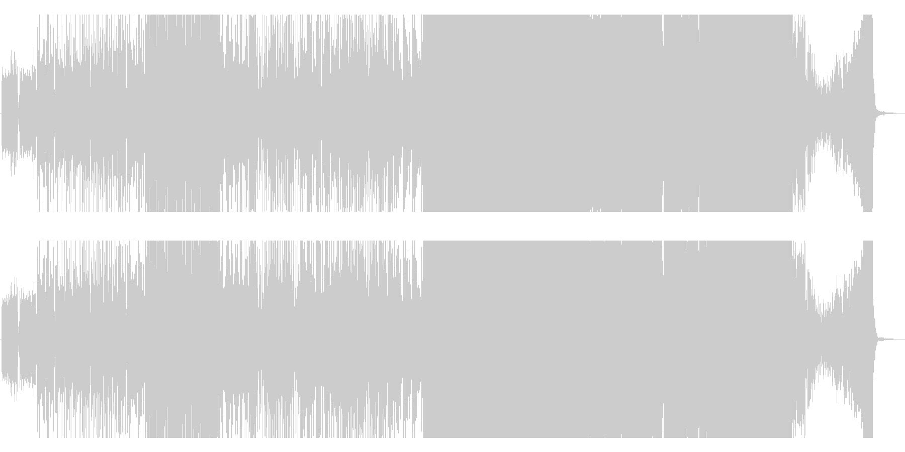ダンサブルなポップEDMの未再生の波形