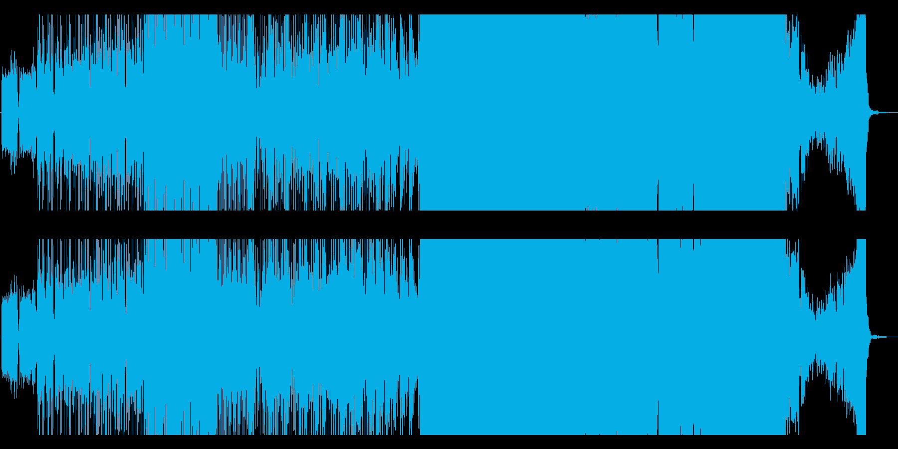 ダンサブルなポップEDMの再生済みの波形