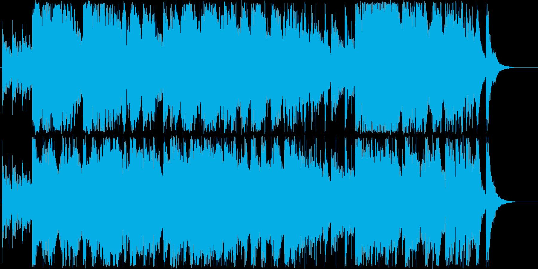 楽しげなシンセ・打楽器など短めの再生済みの波形
