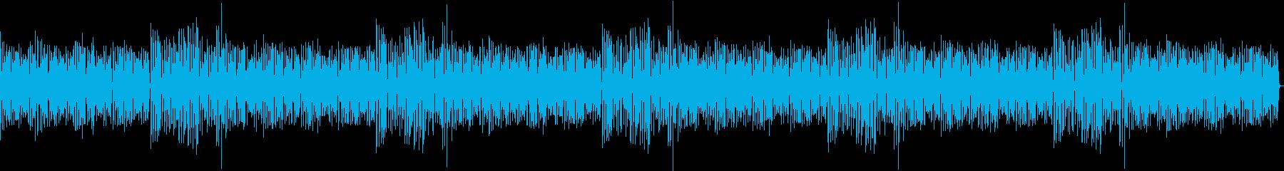 ローファイなベースメインの幻想的なBGMの再生済みの波形