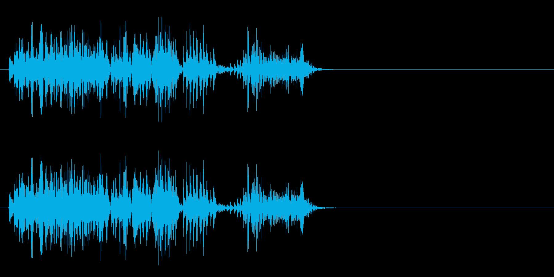 [生録音]ゲップ音03(ロング)の再生済みの波形