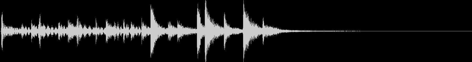 ドラム:リズムアクセントの未再生の波形