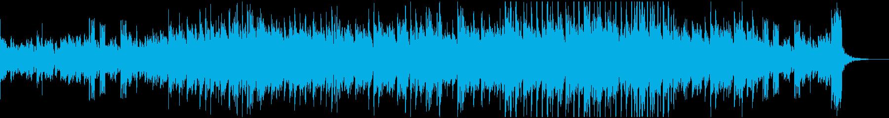 D&B系の短めインストの再生済みの波形