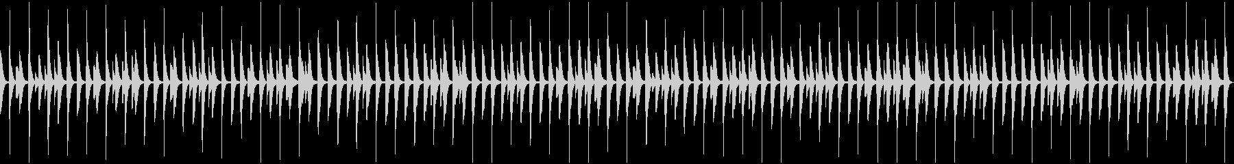 かわいい雰囲気のBGMの未再生の波形
