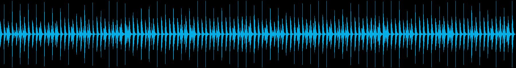 かわいい雰囲気のBGMの再生済みの波形