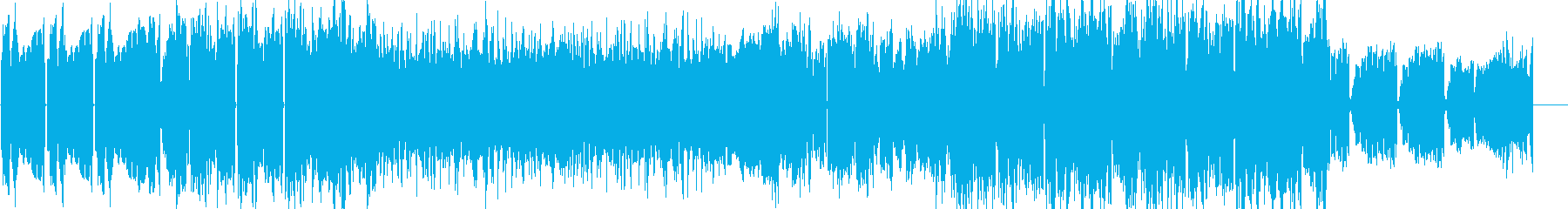 不穏感・浮遊感のあるチルアウトBGMの再生済みの波形