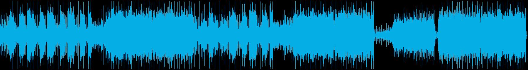 激しい 強い メタル ラウド BGMの再生済みの波形