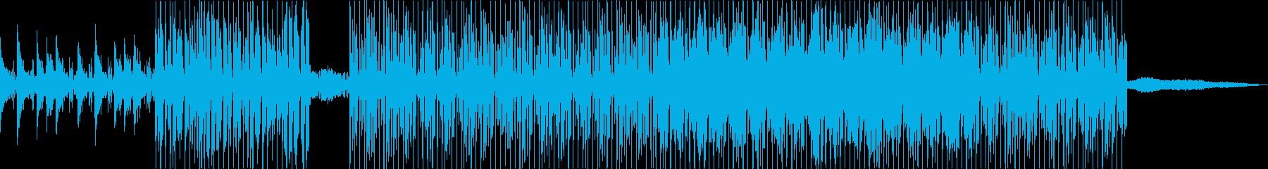 ピアノを中心にした前向きで明るいBGMの再生済みの波形