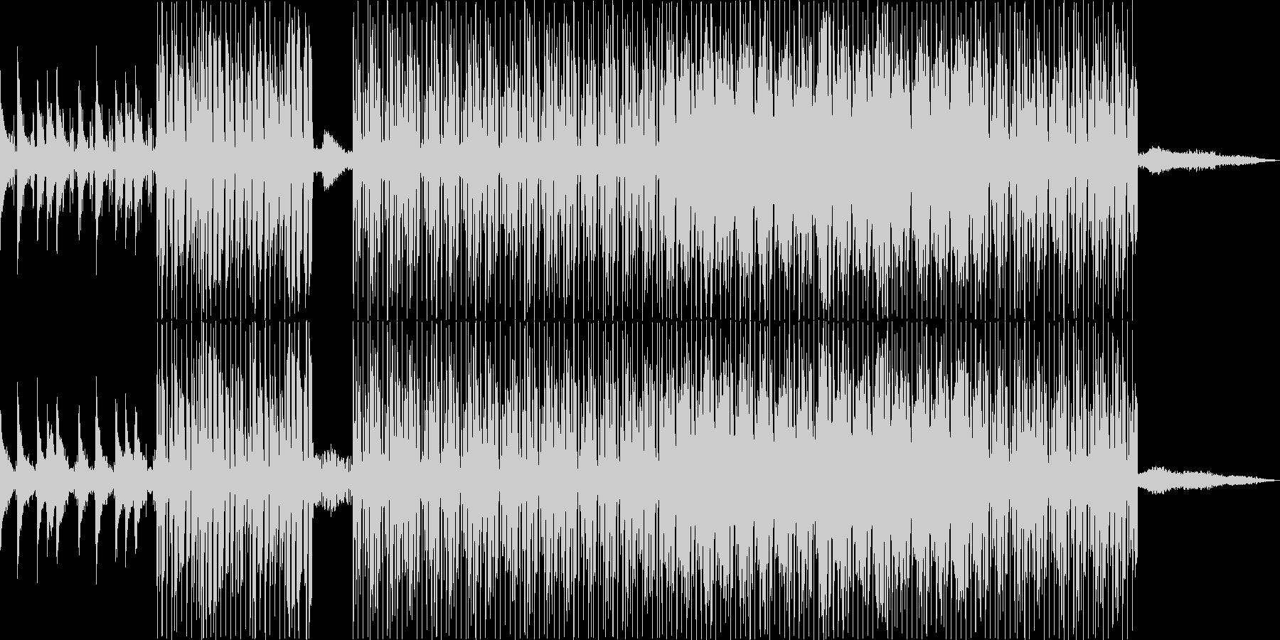 ピアノを中心にした前向きで明るいBGMの未再生の波形