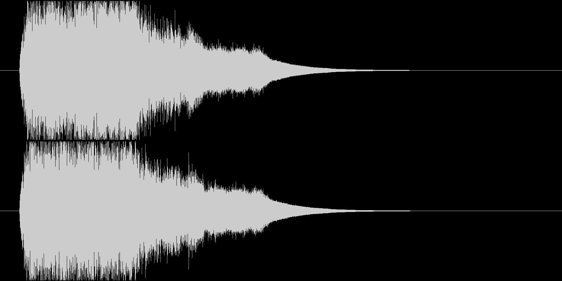 上昇回復age音の未再生の波形