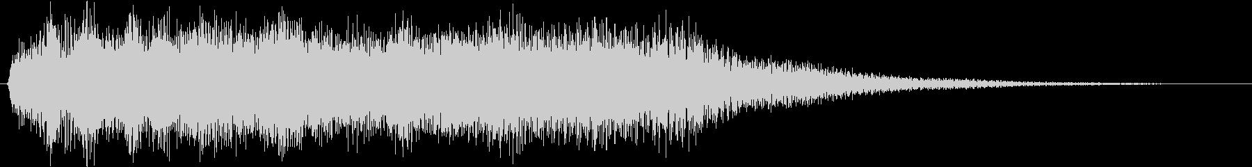 フルートの暖かいサウンドロゴの未再生の波形