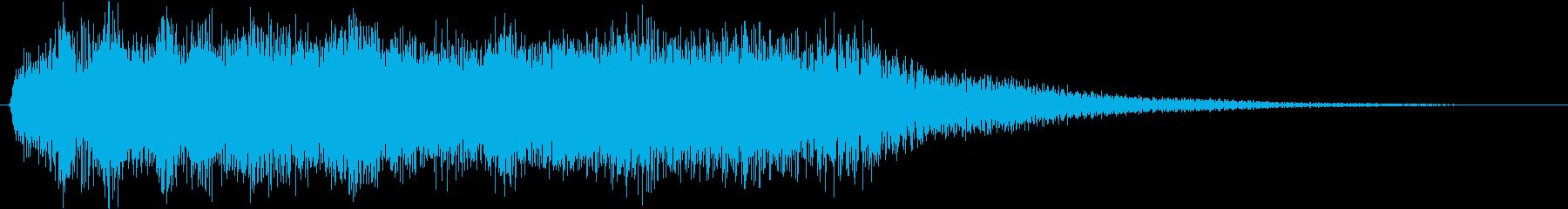 フルートの暖かいサウンドロゴの再生済みの波形