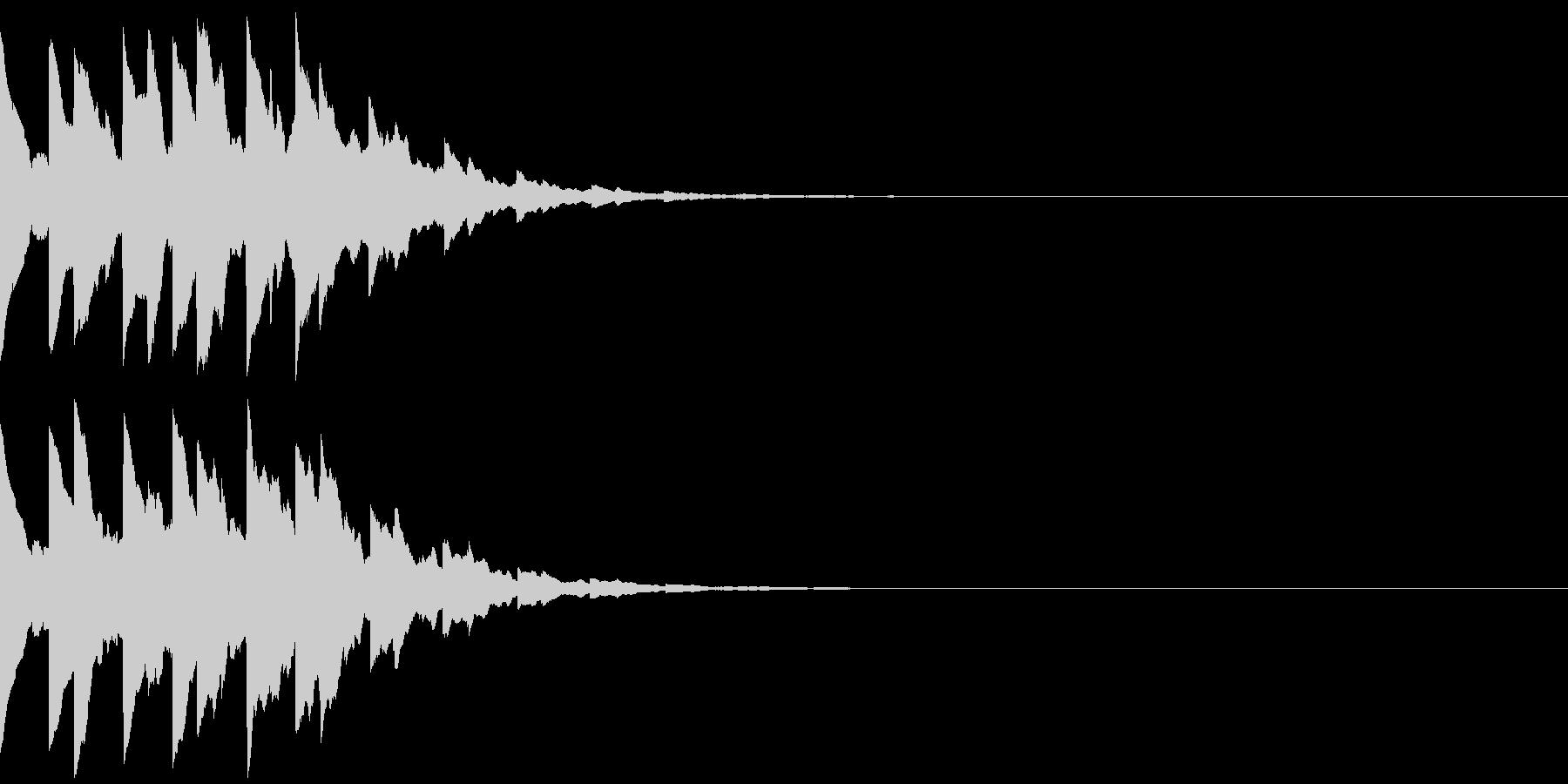 ベルのゲームクリア音、レベルアップ音の未再生の波形