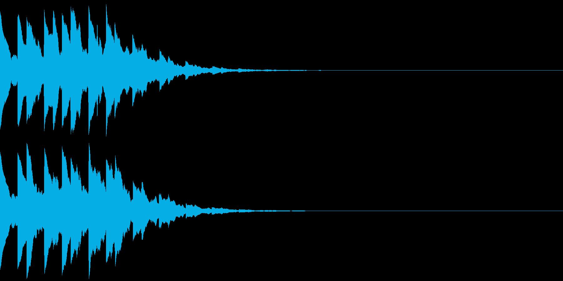 ベルのゲームクリア音、レベルアップ音の再生済みの波形