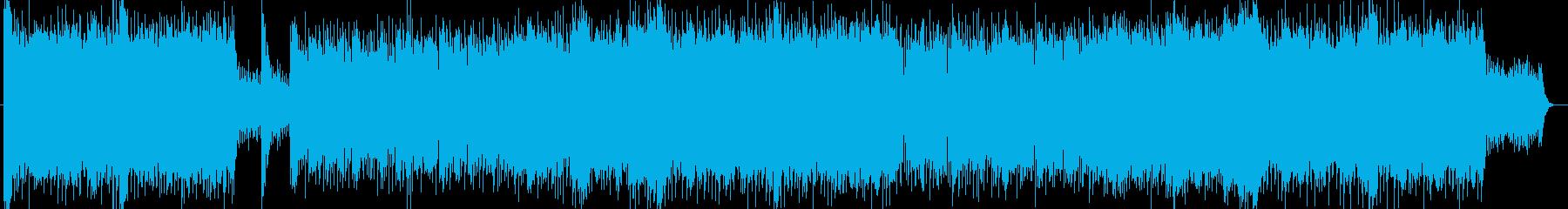 シリアスとドキドキ感シンセギターサウンドの再生済みの波形